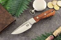Bark River Knives: Essential EDC (With Bolster) Fixed Blade Every Day Carry / General Purpose / Personal Protection / Collector / Hunting Knife w/ Cocobolo Handle & Mosaic Pins - 2