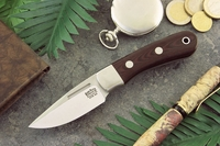 Bark River Knives: Essential EDC (With Bolster) Fixed Blade Every Day Carry / General Purpose / Personal Protection / Collector / Hunting Knife w/ Maroon Linen Micarta Handle