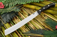 Bark River Knives: Golok Fixed Blade Bushcraft / Survival / Outdoor / Utility / Collector Knife w/ Black G10 Handle, Dha Point
