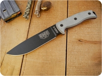 ESEE Knives: 6P Knife Only (No Sheath), Black