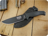 ESEE Knives: ESEE-6P-B-BG10-ThinRL, Fixed Blade Tactical / Military / Survival / Outdoor / Hunting / Camping / Hiking / General Purpose / Bushcraft / Knife with Black Plain Edge Blade & tkc Custom Black G10 Handle, Thin Red Liners