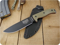 ESEE Knives: ESEE-6P-OD-RG10-RL, Fixed Blade Tactical / Military / Survival / Outdoor / Hunting / Camping / Hiking / General Purpose / Bushcraft / Knife with Black Plain Edge Blade & tkc Custom Ranger Green G10 Handle, Red Liners