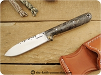 Lon Humphrey Custom Kephart (Flat Grind) Fixed Blade, Bushcraft / Hunting / General Purpose / Utility / Collector Knife w/ California Buckeye Burl Handle
