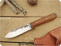 Lon Humphrey Custom Kephart (Flat Grind) Fixed Blade, Bushcraft / Hunting / General Purpose / Utility / Collector Knife w/ Desert Ironwood Handle
