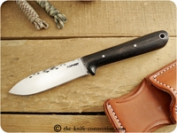 Lon Humphrey Custom Kephart (Flat Grind) Fixed Blade, Bushcraft / Hunting / General Purpose / Utility / Collector Knife w/ Ebony Handle