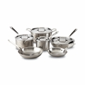 All-Clad d5 Brushed Stainless 10-Pc Cookware Set - BD005710
