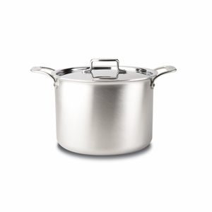 All-Clad d5 Brushed Stainless 12 Qt. Stockpot w/Lid - BD55512