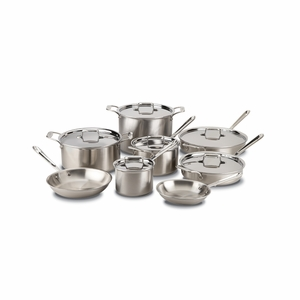 All-Clad d5 Brushed Stainless 14-Pc Cookware Set - BD005714