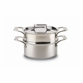 All-Clad d5 Brushed Stainless 3 Qt. Casserole w/Steamer - BD55303W-ST