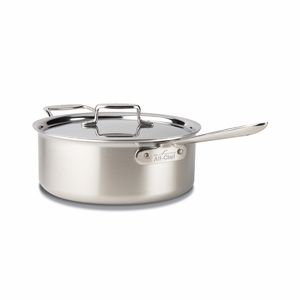 All-Clad d5 Brushed Stainless 6 Qt. Deep Sauté Pan w/Lid - BD55206