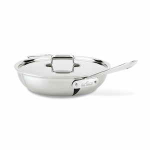All-Clad d5 Brushed Stainless 4 Qt. Weeknight Pan w/Lid - BD5540465