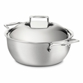 All-Clad d5 Brushed Stainless 5.5 Qt. Dutch Oven w/Lid - BD55500