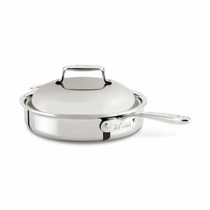 All-Clad d7 Stainless 3 Qt Pan Roaster w/Domed Lid - SD754036