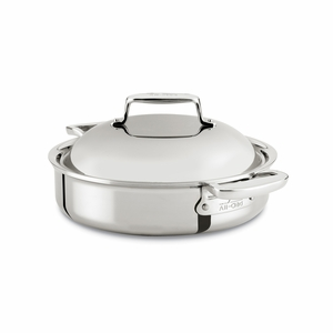 All-Clad d7 Stainless 4 Qt Braiser Pan w/Domed Lid - SD7540416