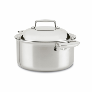 All-Clad d7 Stainless 8 Qt Round Oven w/Domed Lid - SD755086