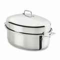 All-Clad Gourmet Accessories 10 Qt. Covered Oval Roaster w/Rack - E7879964