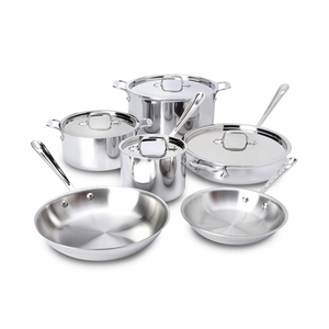 All-Clad Stainless Steel 10-Pc Cookware Set - 401877-R
