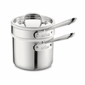 All-Clad Stainless Steel 2 Qt. Sauce Pan w/Porcelain Double Boiler - 42025