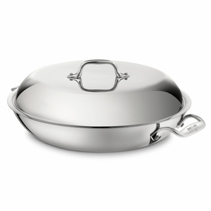 All-Clad Stainless Steel 4 Qt. Braiser Pan w/Lid - 4400