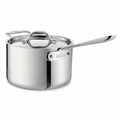 All-Clad Stainless Steel 4 Qt. Sauce Pan w/Lid - 4204