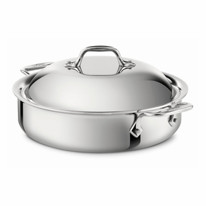 All-Clad Stainless Steel 4 Qt. Sauteuse w/Lid - 440418