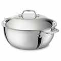All-Clad Stainless Steel 5.5 Qt. Dutch Oven w/Lid - 4500