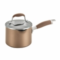 Anolon Advanced Bronze Collection - 2 Qt. Straining Saucepan w/2 Pour Spouts - 83631