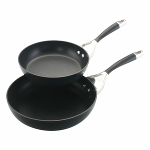 "Circulon Elite - Twin Pack: 8""&10"" Open Skillets - 80388"