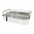 "Cristel 3-ply Stainless Steel Roaster - 16"" x 12"" x 3""  - PFR40"