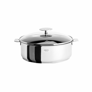 Cristel Casteline Removable Handle - 4 Qt Non-Stick Saute Pan w/Lid - S24QMPEKP