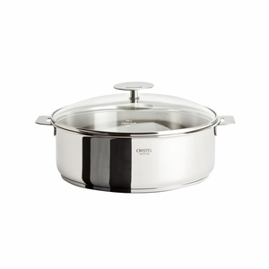 Cristel Casteline Removable Handle - 5 Qt Saute Pan w/Lid - S26QMPKP