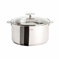 Cristel Casteline Removable Handle - 6 Qt Stew Pan w/Lid - F24QMPKP