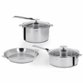 Cristel Casteline Removable Handle - 7-Pc Stainless Steel Cookware Set - ST7CAKP