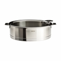 Cristel Strate Removable Handle - 3.5 Qt Saute Pan w/Lid - S24QLKSA