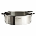 Cristel Strate Removable Handle - 5.5 Qt Saute Pan w/Lid - S28QLKSA