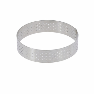 "de Buyer 2-1/8"" Round Stainless Steel Perforated Tart Ring  - 3099.01"
