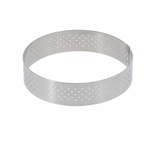 "de Buyer 3"" Round Stainless Steel Perforated Tart Ring  - 3099.03"
