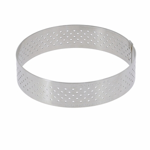"de Buyer 5"" Round Stainless Steel Perforated Tart Ring  - 3099.05"