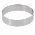 "de Buyer 9-5/8"" Round Stainless Steel Perforated Tart Ring  - 3099.09"