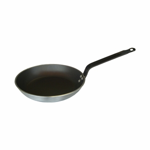 "de Buyer Choco Resto Induction 7-7/8"" Round Non-Stick Aluminum Frypan - 8480.20"