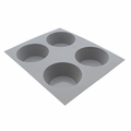 de Buyer Elastomoule 4-Muffins Silicone Mold - 1833.21