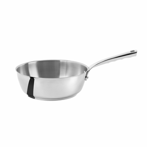 de Buyer Milady 3.2 Qt. Rounded Saute Pan - Stainless Steel - 3411.24