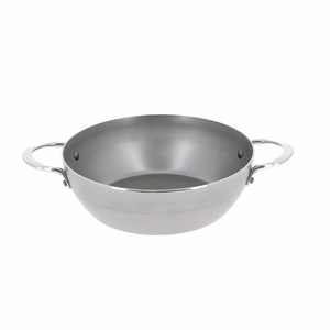 """de Buyer Mineral B Element 11"""" Round Country Chef Frypan w/2 Handles - 5654.28"""