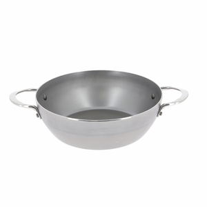 """de Buyer Mineral B Element 12-1/2"""" Round Country Chef Frypan w/2 Handles - 5654.32"""