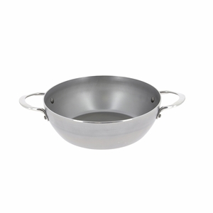 "de Buyer Mineral B Element 9-1/2"" Round Country Chef Frypan w/2 Handles - 5654.24"