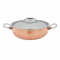 de Buyer Prima Matera 5.2 Qt. Rounded Saute Pan w/Stainless Steel Lid - 6232.28