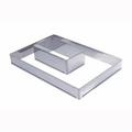 "de Buyer Rectangle Stainless Steel Adjustable Pastry Frame (17"" x 11-1/2"" x 2"" - 34"" x 23"" x 2"") - 3014.43"