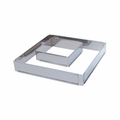 "de Buyer Square Stainless Steel Adjustable Pastry Frame (11-7/8"" x 11-7/8"" x 2"" - 22-1/2"" x 22-1/2"" x 2"") - 3014.30"