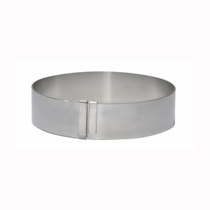 "de Buyer Supple Stainless Steel Giant Extensible Pastry Ring (7"" - 14"")  - 3040.01"