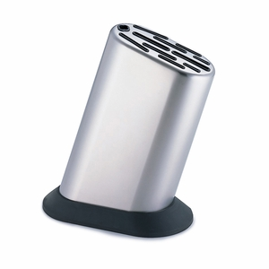Global G-835/KB - 11 Slot Stainless Steel Knife Block - G-835/KB